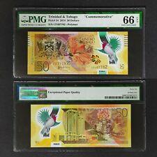 Trinidad & Tobago 2014 , 50 Dollars Pmg66 EPQ Commemorative