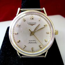 VINTAGE ADMIRAL LONGINES 1200 AUTOMATIC 10K GOLD FILLED WATCH NO BAND RUNS WELL