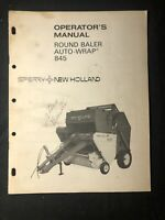 New Holland Operator's Manual Round Baler Auto Wrap 845 *534
