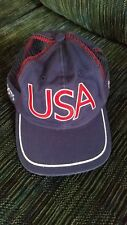 2004 USA Olympic Games Team Roots Navy Blue Cotton & Mesh Hat Strapback Cap