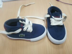 Lacoste Sport Kids Trainers Brand New Unworn Lace Fabric Size 3 Uk Infant