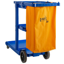 Janitorial Cleaning Cart Janitor Cart With 3 Shelves And Vinyl Bag