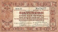 Netherlands 1 zilverbon 1938 Pick 61 Fine , EG 478277