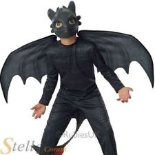 How to Train Your Dragon 2 - Night Fury Toothless Kids Costume Medium Black