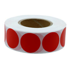 Color Coding Dot Labels 25mm Round Natural Paper Stickers  Label 1,000 Per Roll