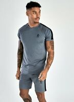 Gym King Mens New Short Sleeve Crew Neck T-Shirt Core Plus Poly Tee Charcoal