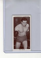 Churchman 1938 Boxing Personalities #3 Max Baer Exmt Tobacco Card