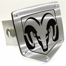 "Dodge Ram Logo Tow 2"" Receiver Hitch Cover Real Brushed Stainless Steel Plug"