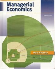 Managerial Economics 12th edition Mark Hirschey hardcover + info apps