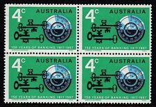 Australia 1967 Block of 4 150th Anniversary Banking in Australia - AU343BK