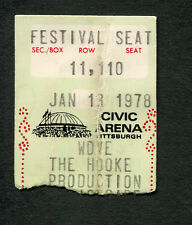 1978 Kiss concert ticket stub Pittsburgh Peter Criss passes out Love Gun Alive