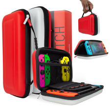 Orzly Carry Case for Nintendo Switch - Red/White