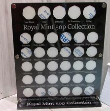 50p named coin hunt display album rare royal mint case wallet full  35 designs