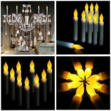 """60 PACK Christmas Light Festival Party 6.5"""" LED Taper Candles No Timer"""