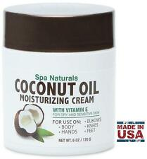 Spa Naturals COCONUT OIL MOISTURIZING CREAM (6oz / 170g) Vitamin E for Dry Skin