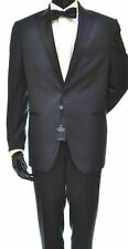 UGO FABIANI SMOKING MAN SIZE 52 DROP 7 BLUE REVERS BLACK FOR CEREMONIES AND
