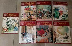 Fiabe Sonore lotto di 7 volumi illustrati più 7 vinili 45' Fratelli Fabbri 1966
