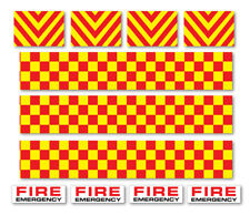 FIRE ENGINE DECALS Road Mountain Bike/Bicycle, Toy Car Stripes Frame Stickers