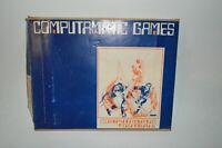 """Vintage Computamatic Games Football Basketball Baseball 1970 """"Computerized"""" Game"""