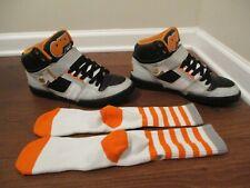 Used Worn Size 12 Osiris NYC 83 Shoes Black Gray Orange Plus Bonus Socks