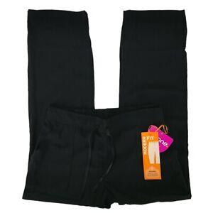 Urbane Scrub Pants Women's 9338 Black Cargo Elastic Back