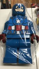 Lego 19inch jumbo display figs Captain America MOC