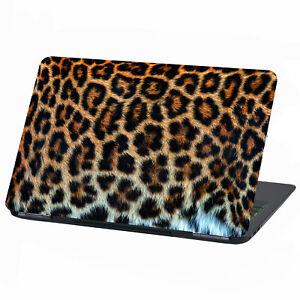 "Laptop Folie Aufkleber Sticker 13-17""Zoll Skin Vinyl Notebook LP27 Leopardfell"