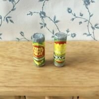 1:12 Scale 2 TINS of PINEAPPLE Dolls House Miniature Can Food Kitchen Accessory