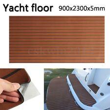 90''x35'' 5MM Dark Brown Yacht EVA Boat Floor Mat Teak Decking Carpet Sheet Pad