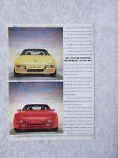 PORSCHE 924S 944 1986  POSTER ADVERT READY FRAME A4 SIZE