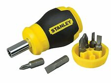 Stanley Multi-bit Adjustable Non Ratchet Small Stubby Screwdriver Bits STA066357