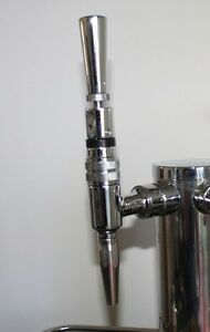 Guinness/stout draft beer stainless faucet nozzle with chrome tap handle upgrade