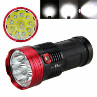 45000LM Vastfire 10x XM-L T6 LED Torch 4x18650 Hunting Lamp Flashlight Light