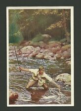 Fishing in Norway Vintage 1932 Sanella Sports Card