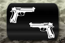 Beretta 92 Pistol Gun decal 2 Stickers
