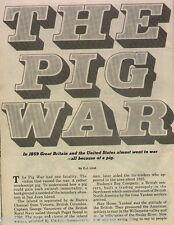 Pig War Of Pudget Sound, Oregon Line+Baynes,Cass,Cutler,Dallas,DeCourney,Gholson