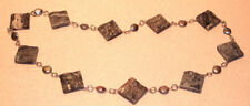 Cream & Gray Lace Marble & Silver Gray Pearl Necklace
