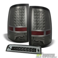 2009-2017 Dodge Ram Smoked LED Tail Lights +LED 3rd Rear Brake Cargo Lamps 09-17