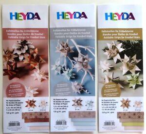 96 Faltstreifen Fröbelsterne Heyda Basteln Papierstreifen Sterne für Weihnachten