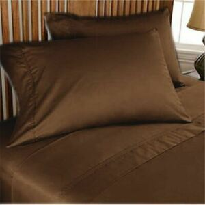 3PCs Fitted Set Extra PKT Ultra-Plush Egyptian Cotton 1000 TC Chocolate Solid