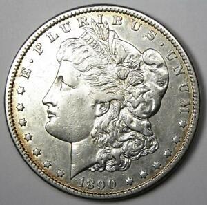 1890-CC Morgan Silver Dollar $1 - AU Details - Rare Carson City Coin!