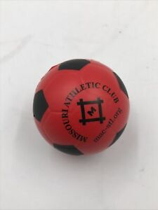 St. Louis Missouri Athletic Club Red Soccer Ball Stress Ball