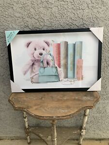 """Magically Artistic by Oliver Gal Teddy Bear and Givenchy Lullaby Books 16"""" x 24"""""""