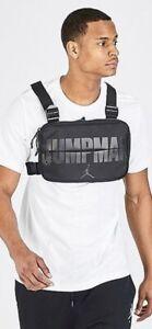Nike Air Jordan Jumpman Chest Rig Nylon Utility Bag Black 9A0321-KK2 NWT