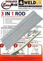 Aluminium Welding Brazing & Soldering Low Temp Durafix Easyweld x 10 + Brush E05