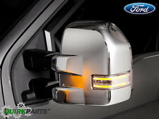 2015-2016 Ford F-150 Chrome Trailer Tow Mirror Caps Set OEM NEW VFL3-Z17D742-B