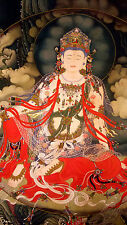 Antique-Chinese-Tibetan-Bhuddist-Thangka-Painting-By-Ding-Guanpeng #r2018