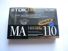 cassette TDK MA 110 minutes Metal  MA NEW NOT OPEN EUROPE SHIPMENT QTY 1