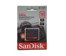 Sandisk 16gb Compact Flash Memory card 50mb/s Canon EOS 300D 350D 400D 7D 30D