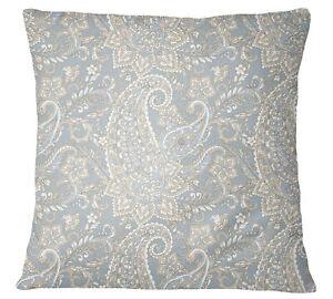 S4Sassy Decorative Gray Cushion Cover Paisley Print Throw Square-q1r